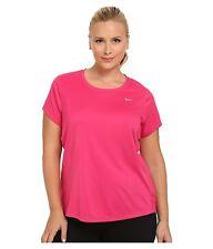 Womens NIKE DRI-FIT Miler shirt TOP PLUS Size 3x 3xl xxxl 22 24   VIVID PINK