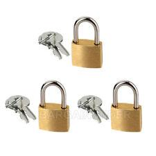 3 PC Small Metal Padlocks 20mm Mini Brass Locks Jewelry Safe Box W 2 Keys BU-003