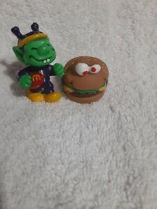 1990 Hardees Burger And 1983 Mcdonalds  Alien Toys