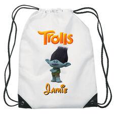 Branch From Trolls Drawstring Swimming School PE Bag Personalised