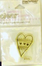 NEW STAMPENDOUS CLEAR STAMP MINI STRIPED HEART  SSC430