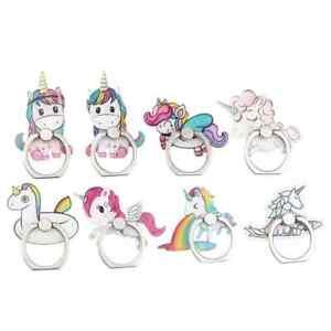 Unicorn Phone Ring Acrylic Mobile Phone Holder Stand Pink Unicorn Cute - UK