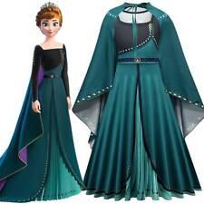4-10Y Girl Frozen2 Queen Elsa Anna Cosplay Outfit Halloween Party Fancy Dress