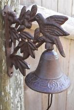 Cast Iron Hanging Hummingbird Bell Decorative Dinner Bells Hummingbirds Birds