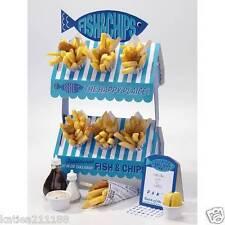 wedding birthday retro beach theme fish and chip stand table decoration cart