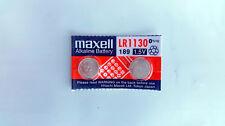2x Maxell LR1130, 189, AG10 Alkaline Battery 0% Hg Expirey 12-2020 Post from MEL