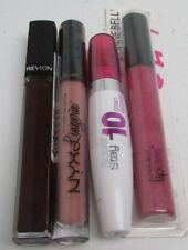 Revlon, Maybelline, Bonne Bell, and Nyx Lot of 4 Lipgloss/ Lipstick