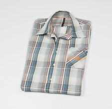 *** NUDIE JEANS *** Men's Blue checked long sleeved Casual Shirt Size XL