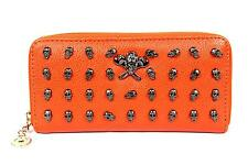 FreshGadgetz giovanile Teschio moda Borsetta Portafoglio per Le Donne Donna-Arancione