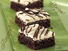 "☆Sweetness!☆Frosted Irish Cream Brownies ""RECIPE""☆Warning ~ Addictive! :)☆"