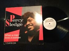 "PERCY SLEDGE ""WHEN A MAN LOVES A WOMAN"" LP (1986, BEST OF, GREATEST HITS)"
