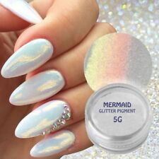 MERMAID EFFECT GLITTER NAIL ART POWDER DUST GLIMMER DUO TONE Iridescent 5G UK