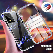 For Samsung Galaxy M31 Case 360° Magnetic Adsorption Double Tempered Glass Cover
