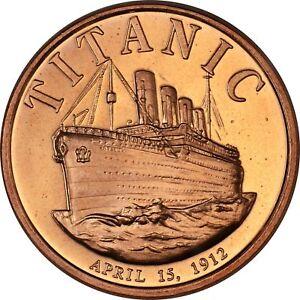 1 oz Copper Round - Titanic