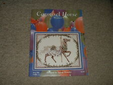 1989 Just Cross-Stitch Pattern Leaflet #98 Carousel Horse Winter Teresa Wentzler