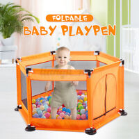 Baby Playpen Fencing Kids Toddler Folding Safety Gate Ball Pool Fence