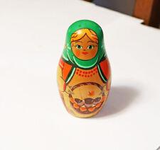 Handmade Matryoshka Nesting Dolls w Fruit 6 Piece Russia