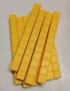ETA Cuisenaire Base Ten - 10 Rod - Lot of 10 -  Yellow Math Manipulatives Blocks