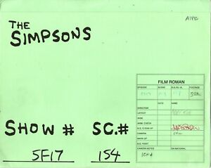 The Simpsons SIGNED production animation art folder GABF03 154