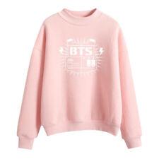 BTS Printed Women Hoody Sweatshirt Ladies Hooded Sweater Tops Jumper Pullover E8