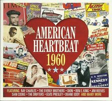 AMERICAN HEARTBEAT 1960 - 2 CD BOX SET - RAY CHARLE, EVERLY BROTHERS & MORE
