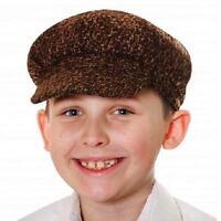 Childrens Fancy Dress Poor Victorian Boy Flat Cap Boys Book Day Hat New h