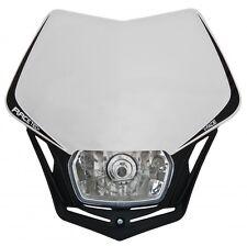 Mascherina Faro Anteriore Racetech Rtech V-FACE Bianco Universale Moto Headlight