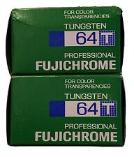 Fujichrome RPTII 64T Type II Tungsten NEW Lot of 2 (1999 Date)***FREE SHIP***