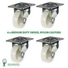 More details for 4 x 50mm / 180kg swivel nylon wheels for fruit machines