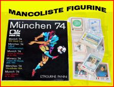 MANCOLISTE FIGURINE ALBUM CALCIATORI PANINI MONACO 74  MONDIALI 1974
