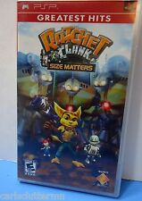 Ratchet & Clank Size Matters PSP Video Game Red Label Greatest Hits E10+ Sony 06