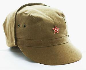 Genuine USSR Soviet Russian Army Military Afghanistan War Uniform Cap Hat Badge