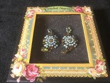Michal Negrin Antique/Vintage Style Crystal Dangle Earrings