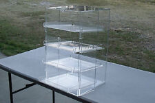 LARGE  ACRYLIC DISPLAY CABINET Four Tray CAKE BAKERY MUFFIN DONUT 57x33x31cm,5mm