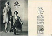 F- Publicité Advertising 1968 (2 pages) Les Vetements de grossesse Prénatal