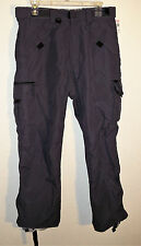 gray nylon water resistant cargo snowboard pants by Turbine Boardwear size S