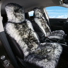 Universal Fit Deep Color of Bean Paste, One Piece Australian Genuine Sheepskin Seat Covers for Cars Truck SUV Van Front Seats