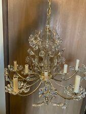 1990s Vintage Schonbek Swarovski Crystal Primrose Chandelier FewCrystals Missing