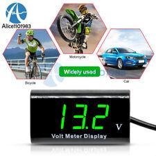 "0.56""Digital Tube 12V LED Voltmeter IPX6 Waterproof AMP Volt Meter Green For Car"