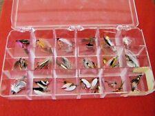 Lot of Over 30 Fishing Flies in Plastic Separator Box