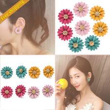 Women Small Cute Daisy Flower Stud Earrings Fashion Women Girls Ear Jewelry Gift