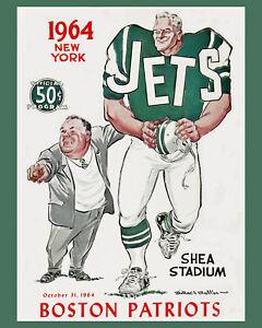 New York Jets - Art Poster - Inaugural Season Game Program (1964) - 8x10 Photo