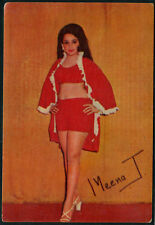 India Bollywood Vintage Post Card Of Famous  Heroien Meena T.