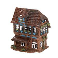 Keramik Teelichthaus Lichterhaus Teelichthalter Modell Fachwerk 15 cm 40546