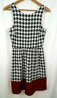 Anthropologie The Impeccable Pig Womens Dress Sz Small Black Berry Houndstooth