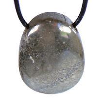Pyrite Katzengold pendentif avec bracelet cuir gouttes