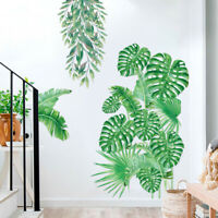 KE_ Tropical Plant Leaves Wall Sticker Decal Nursery Living Room Decor Novelty