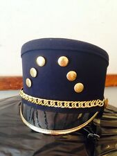 100 Navy Blue Marching Band Hat SP Shako Gold Black NICE QTY Available S M L XL
