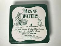 Vintage Collectible Benne Wafers Tin Box Thin Cookie Tin