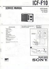 SONY Service Manual ICF-F10 - B2099